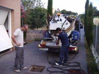 Servicio de limpieza de alcantarillado