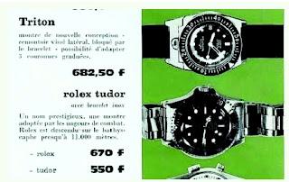 Triton concurrence Rolex Tudor