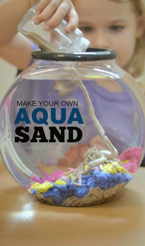 make your own aqua sand this stuff is so cool you can build underwater - Cool Homemade Stuff