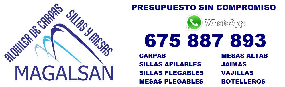 ALQUILER DE CARPAS SILLAS Y MESAS EN JAEN