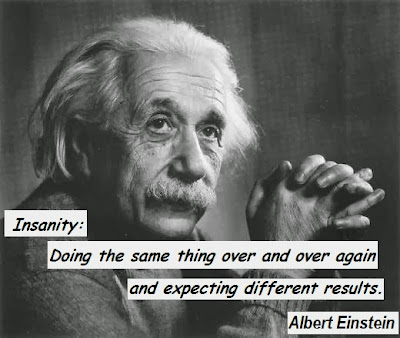 insanity, einstein quote
