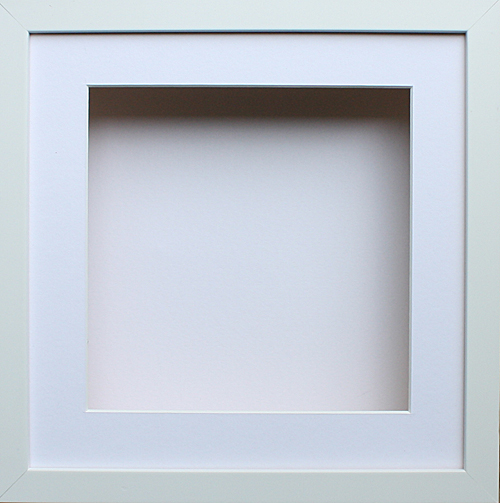 shadow 3d box picture photo frame 10 x 10 deep oak