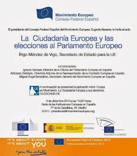 """""""La Ciudadanía Europea y las elecciones al Parlamento Europeo"""""""