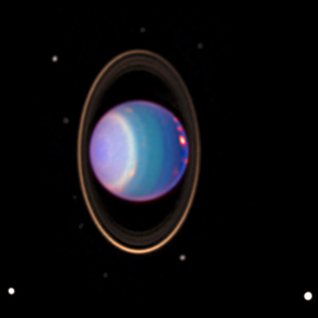 Stunning Hubble image reveals many bright clouds on Uranus