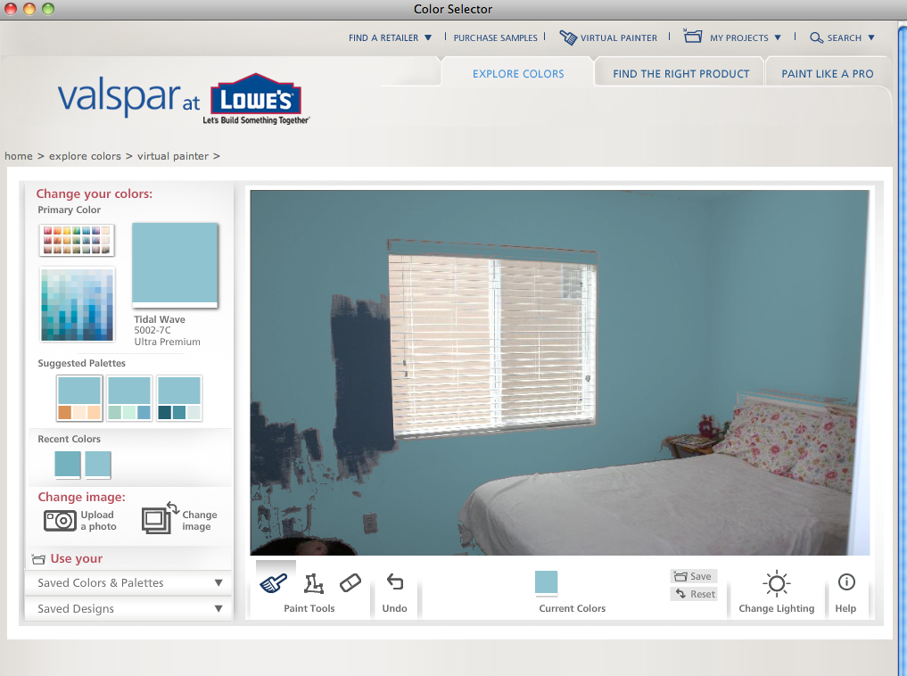 Virtual paint my house interior