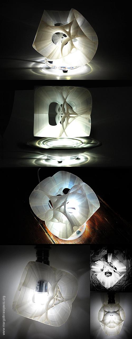Orbital Magnetic Levitating LED Light design by Margot Krasojevic