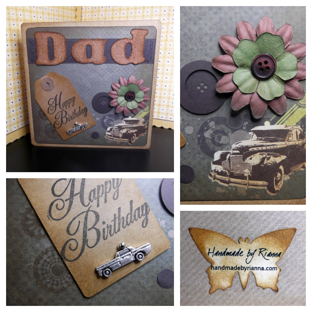 Hand Made By Rianna Handmade Card Happy Birthday Father In Law