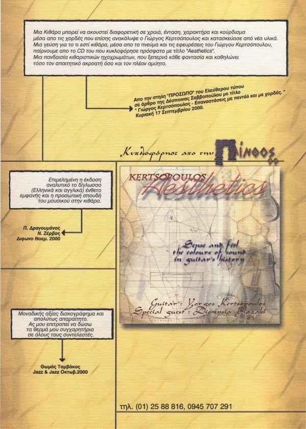 Kertsopoulos Aesthetics CD poster 2000