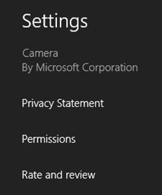 Setting Camera di Windows 8