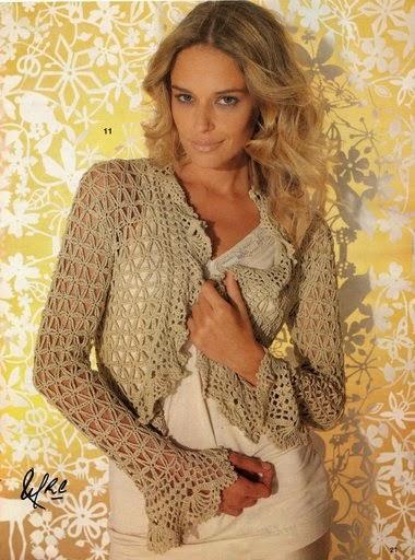 Patrones de Bolero espléndido al crochet