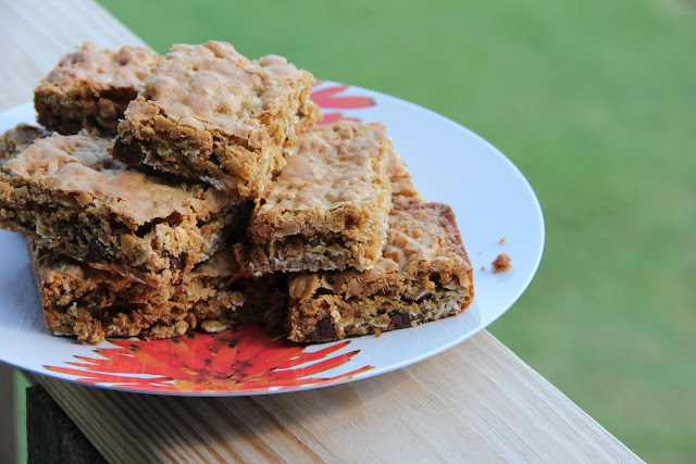 chocolate-peanut butter oat bars