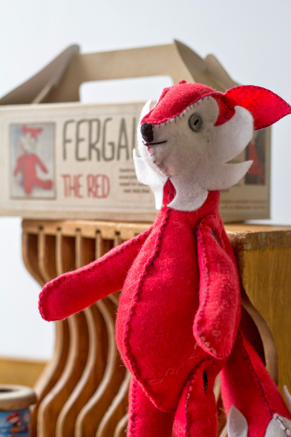 mrs foxs craft kit red felt fox