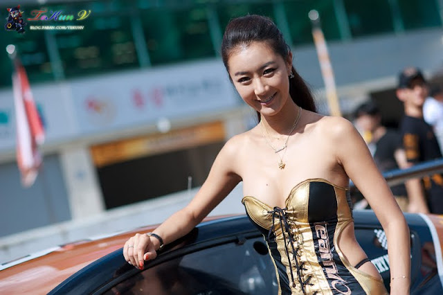 Jung Joo Mi at CJ Super Race R5 2011