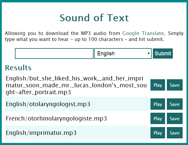soundoftext