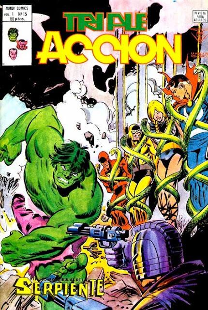 Portada de Triple Acción Volumen 1 Nº 15 Ediciones Vértice
