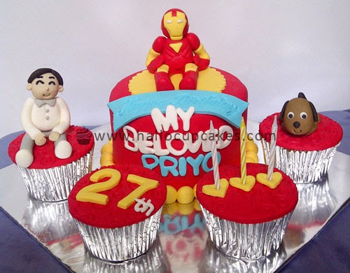 iron man mini cake
