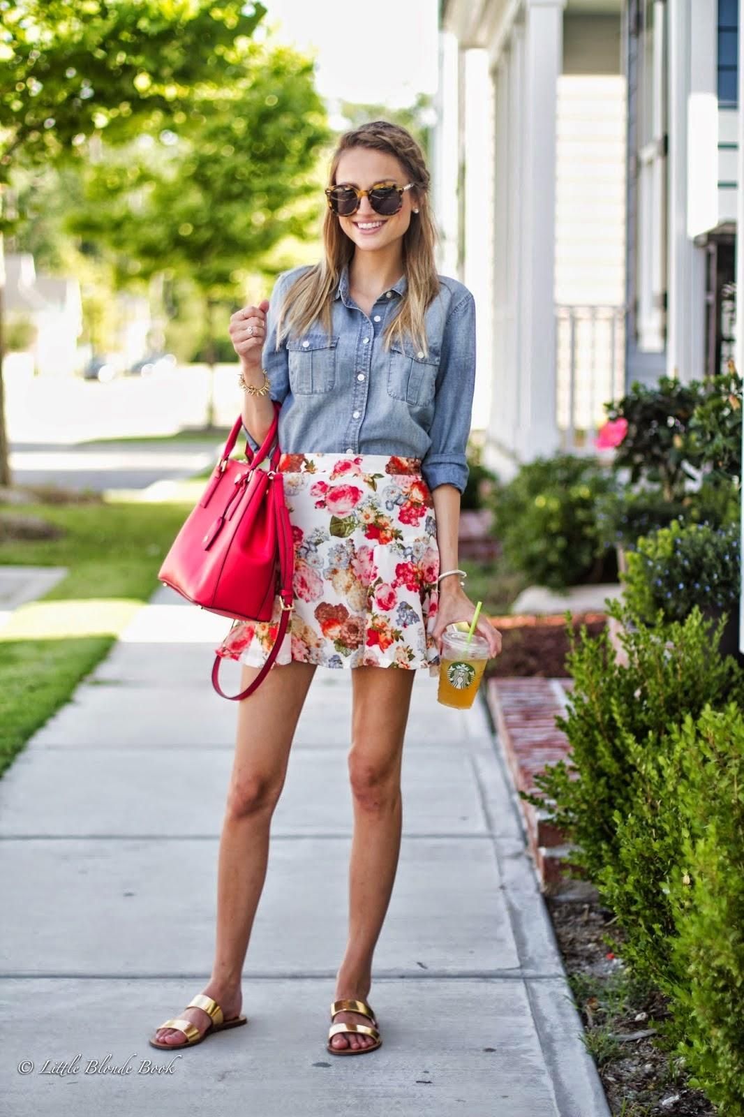 saia floral, roupas da moda, moda feminina, modelos de saias, saia curta