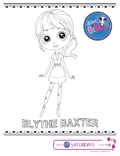 Littlest Pet Shop coloring pages Blythe Baxter