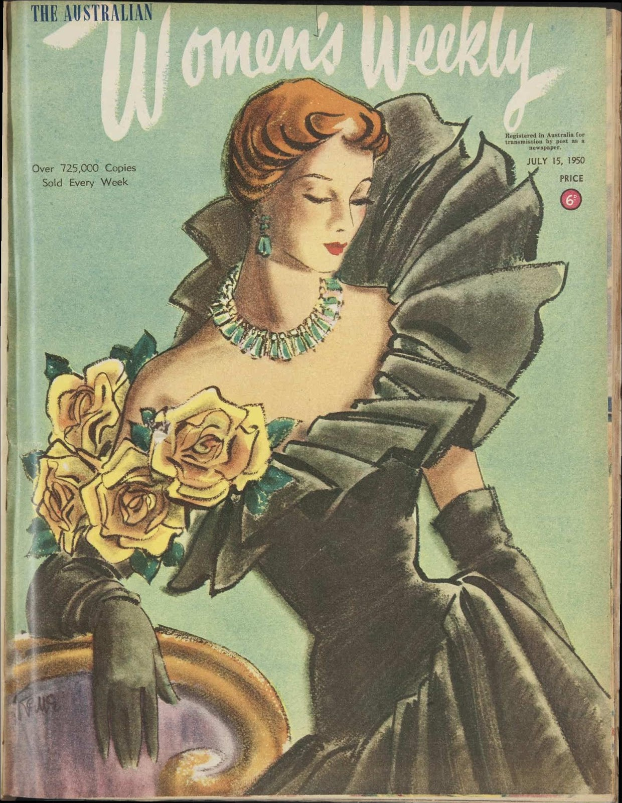 Cover 15 july 1950 issue of the australian women s weekly