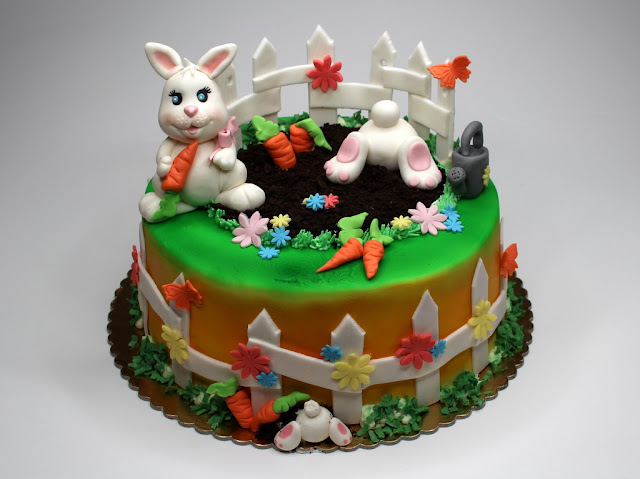 Easter Cake with Rabbits - London
