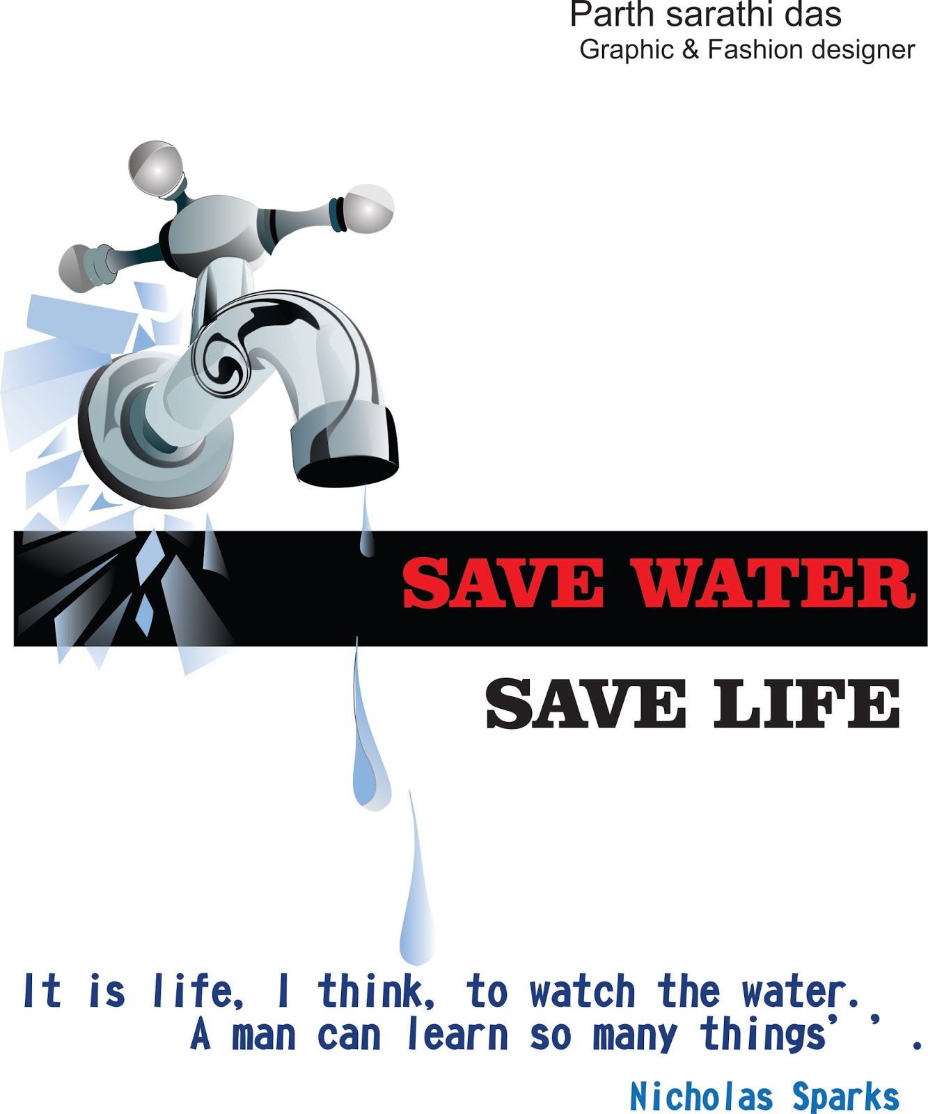 save water for happy future The are many reasons for why we should save water  the amount of water we  use and waste, we can better help against future drought years.