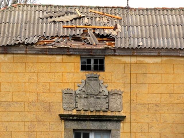daños en el tejado del palacete de El Bosque
