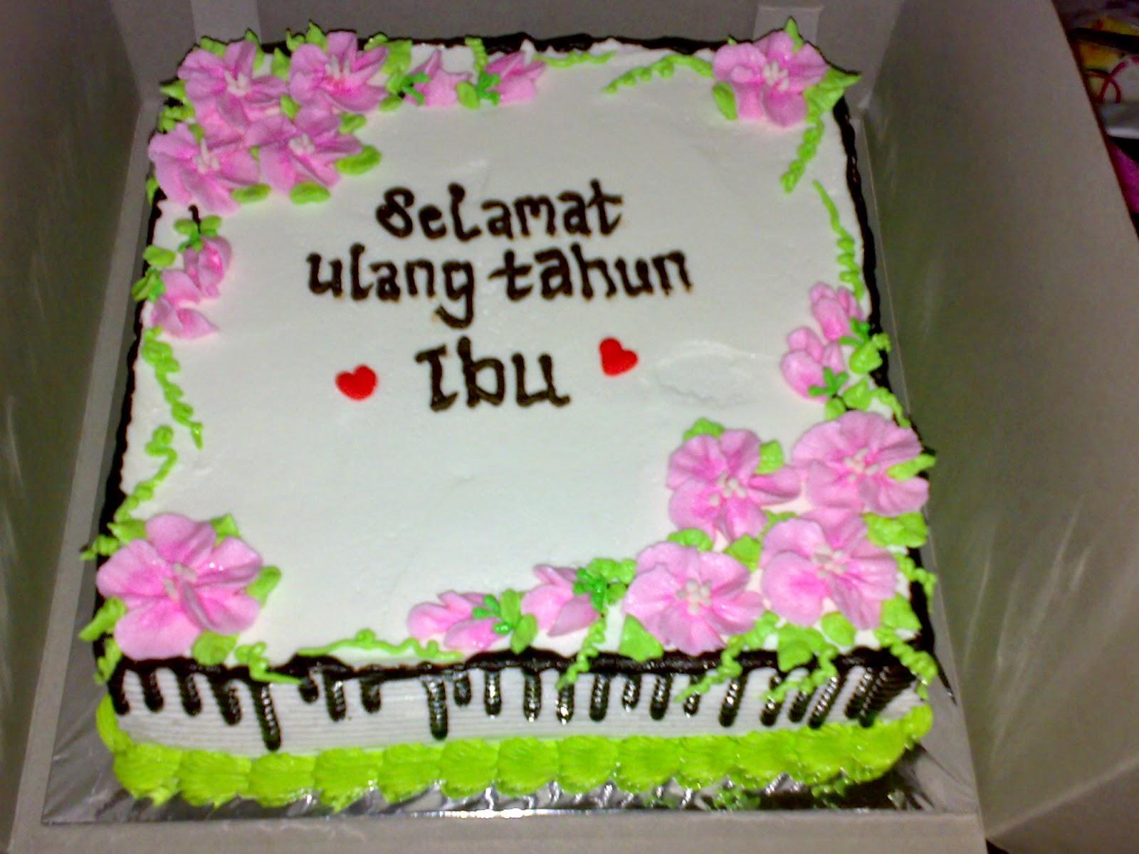 Cake ulang tahun untuk ibu