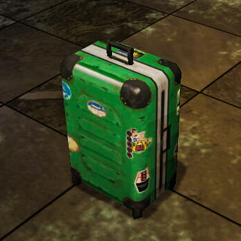 Sticker Covered Suitcase