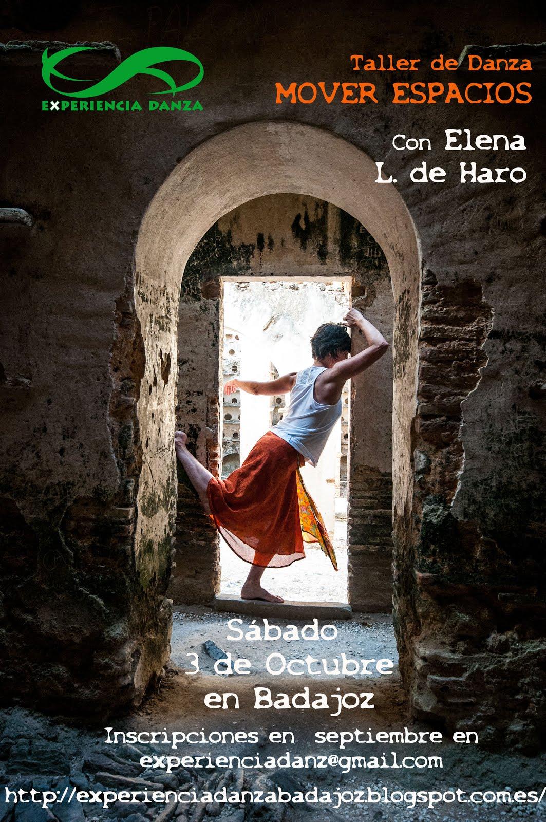 """TALLER INTENSIVO """"MOVER ESPACIOS"""" con Elena López de Haro"""