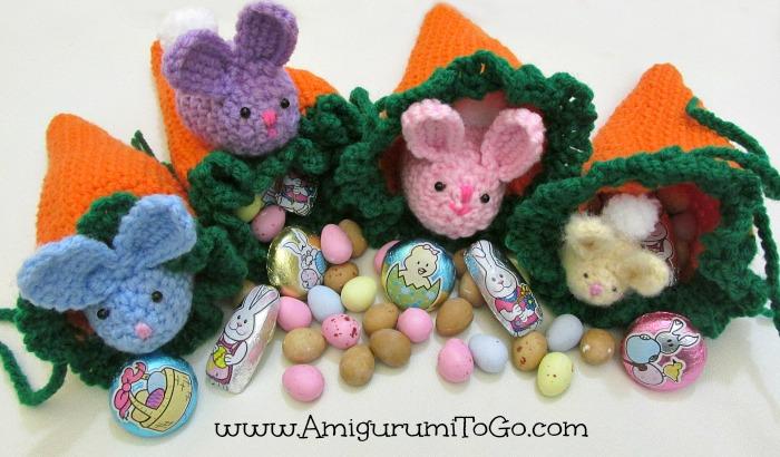 Free Amigurumi Easter Crochet Patterns : Carrot Pouch Tutorial ~ Amigurumi To Go