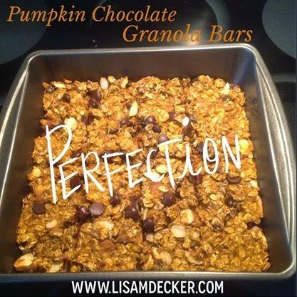 Pumpkin Chocolate Granola Bars, Healthy Snack