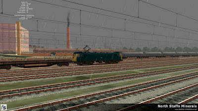 Fastline Simulation - North Staffs Minerals: 8G01 waits to depart Cockshute Yard in North Staffs Minerals, a route for RailWorks Train Simulator 2012.