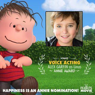 Alex Garfin voices Linus