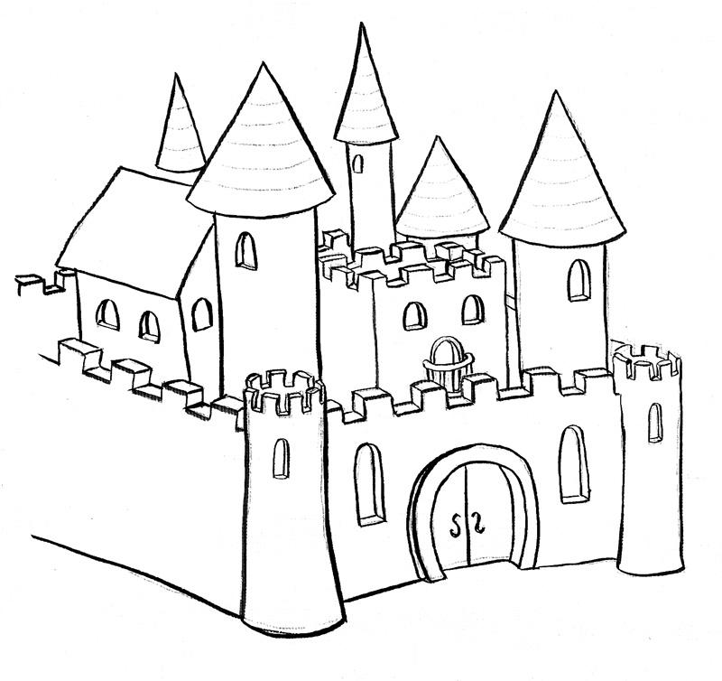 Simple castle template best coloringcastle com contemporary new go bananas illustration alissa staples sleeping beauty maxwellsz