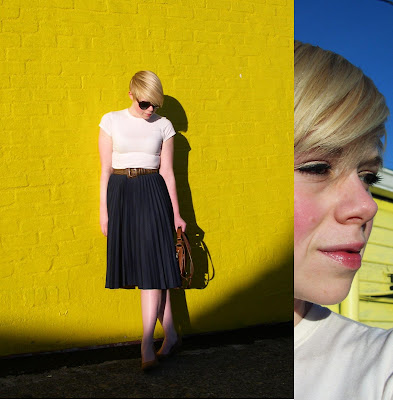blonde, short hair, wedges, spring, fashion, vintage, fleur d'elise