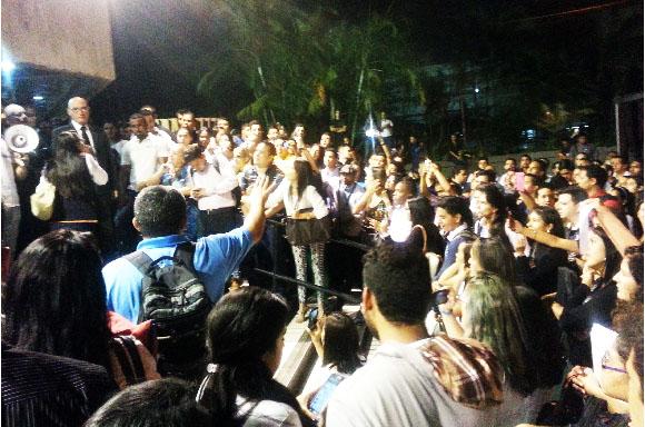 guarimba protesta alejandro humboldt universidad aumento matricula