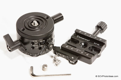 Sunwayfoto DLC-60L Duo QR Clamp w/ DDP-64MX Indexing rotator + screws + hex key