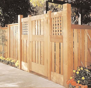 Unique fence designs ideas home decorating ideas and for Craftsman style fence