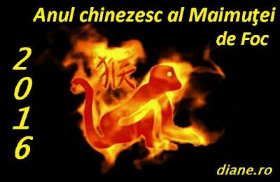 2016 - Anul chinezesc al Maimuţei de Foc