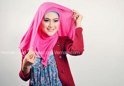 tutorial memakai hijab pashmina kelima