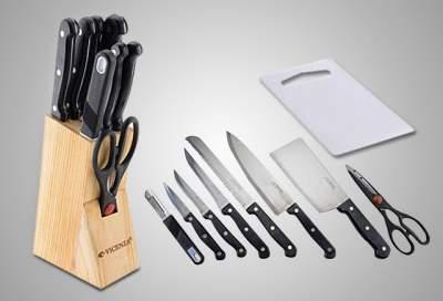 Vicenza pisau dapur set hitam
