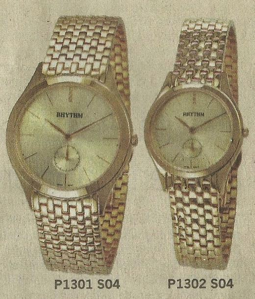 Jam Tangan Mewah Rhythm Pairs P 1301 S04 dan P 1302 S04 - Rhythm Pairs Jam Tangan Klasik Membuat Pasangan Harmonis