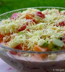 Resep Salad Buah Saus Keju