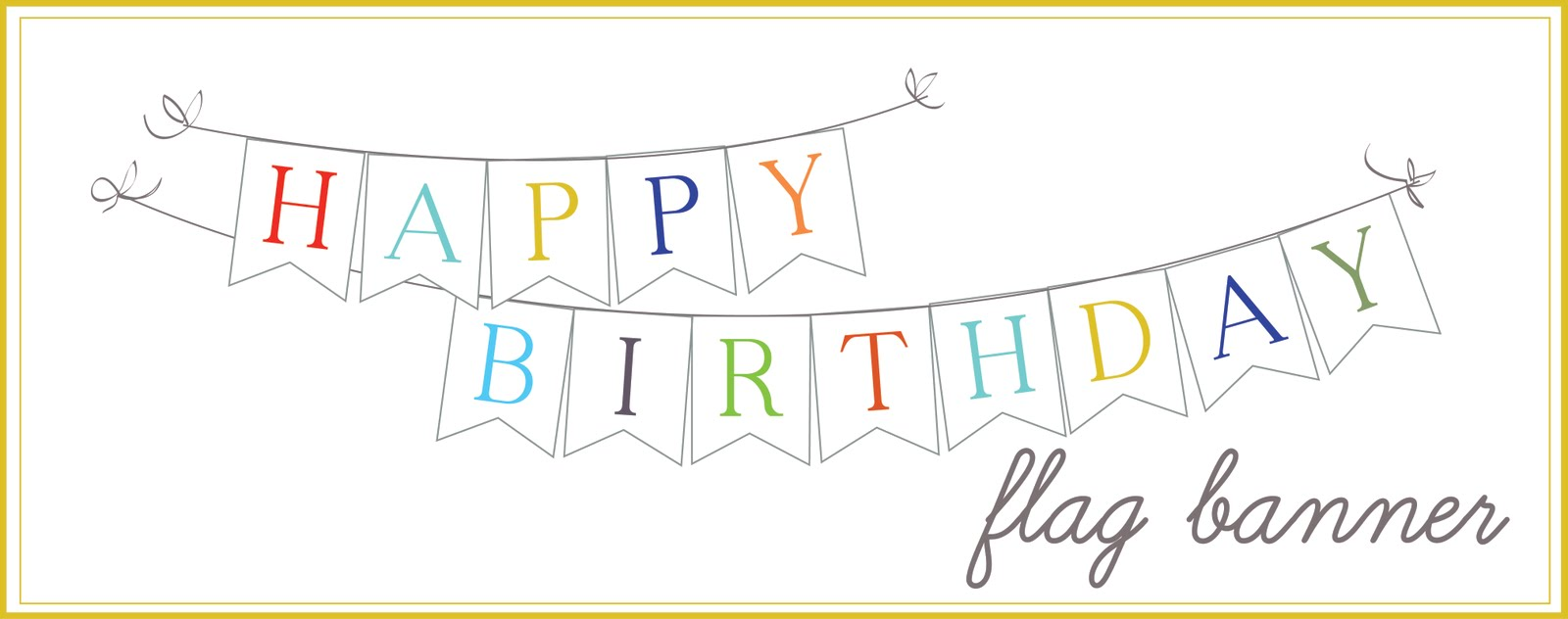 sissyprint: Happy Birthday banner