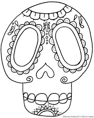DIA De Los Muertos Sugar Skull Template