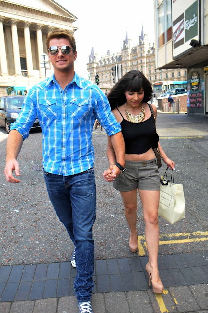 Roxanne Pallett Arriving at a London theatre