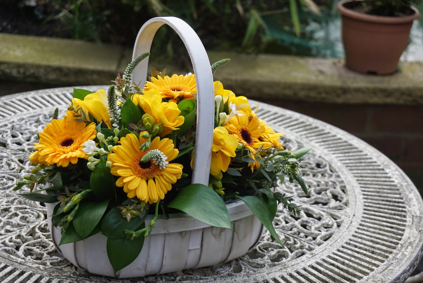 Debhenhams Spring Flower Bouquet Arrangement Basket