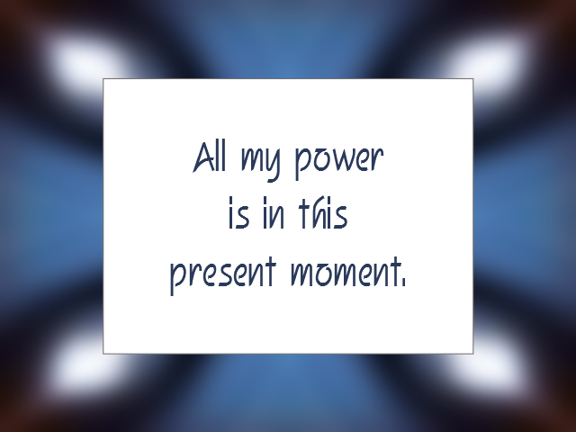 TIME AWARENESS affirmation