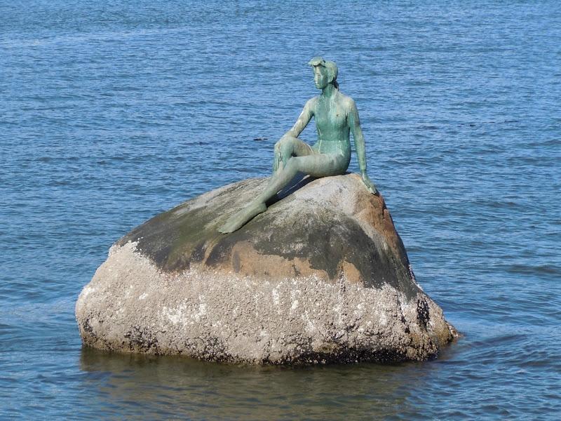 Girl in Wetsuit statue Stanley Park