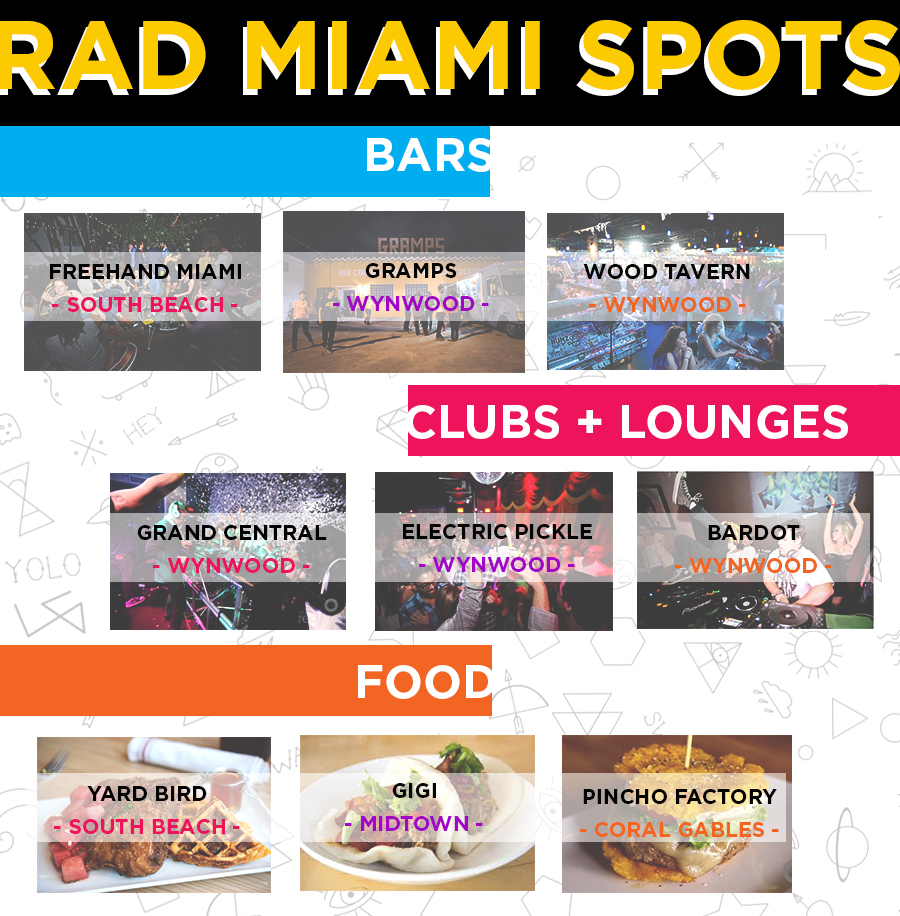 local miami rad hipster cool secret spots restaurants bars venues in miami and wynwood and south beach while you are here for art basel